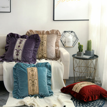 Modern European pillow embroidery sofa cushion cover bedroom back living room thickening pillowcase hotel decoration