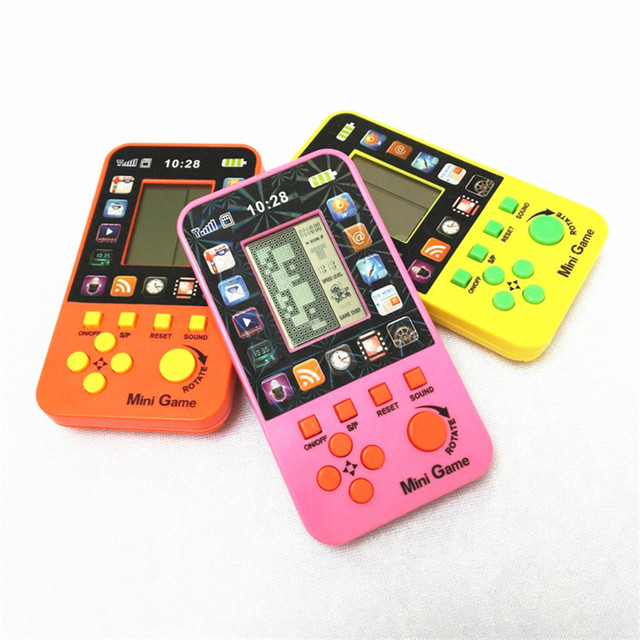 Fancy Originality Of Handheld Tetris Game Classic Nostalgic Electronic Model Toy Hot Style The Best Choice For Children Gif