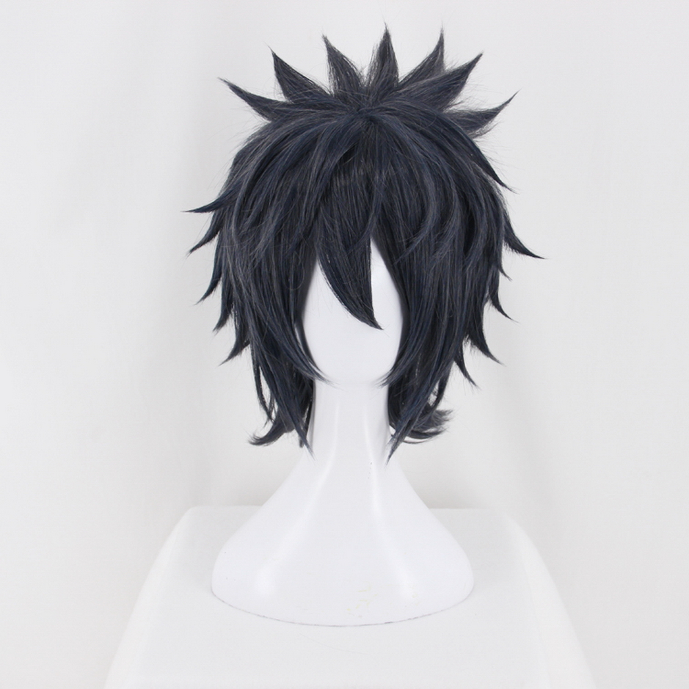 Anime Final Fantasy XV 15 Noctis Uchiha Sasuke Short Cosplay Wig Heat Resistant Synthetic Hair Black Blue Cosplay Wigs For Men image