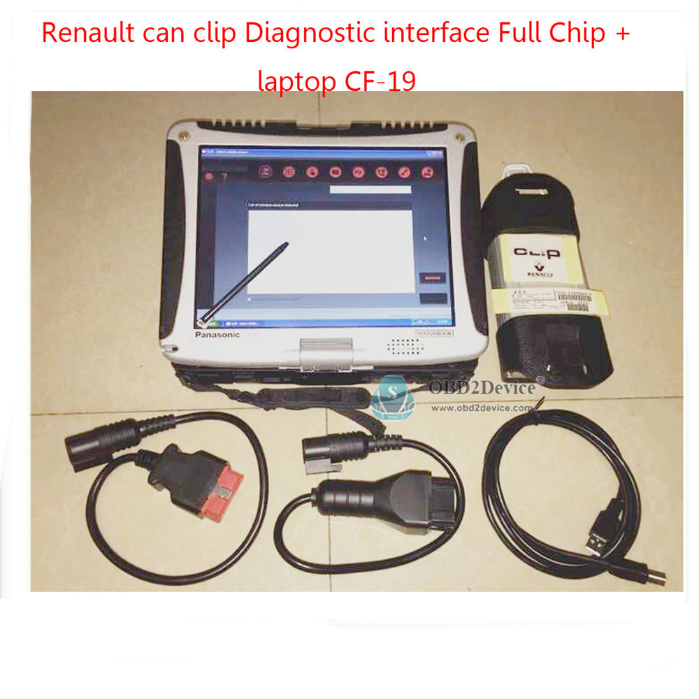 free dhl auto diagnostic renault can clip v160 with full chip plus panasonic cf 19 toughbook. Black Bedroom Furniture Sets. Home Design Ideas