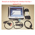 Free DHL Auto Diagnostic renault can clip v160 With Full Chip Plus panasonic cf-19 toughbook Excellent Quality Multi-Language