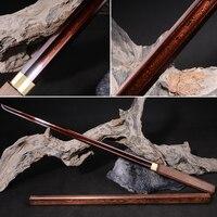 Chinese Sword Tang Dynasty Funcational Sword Hand made Damascus Folded Steel Sword Japanese Samurai Sword Katana