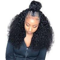 13x6 Синтетические волосы на кружеве парик 250% полный плотность Синтетические волосы на кружеве человеческих волос парики для Для женщин браз