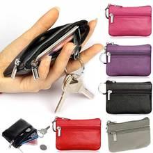 Cuero de La PU Monederos de Las Mujeres Pequeño Cambio Bolsas de Dinero de Bolsillo Monederos Key Holder Case Mini Estuche De Cremallera WML99