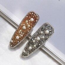 AHB Hair Accessories Pearl Crystal Clips for Women Barrettes Hairgrips Korean BB Fashion Hairpin Headwear
