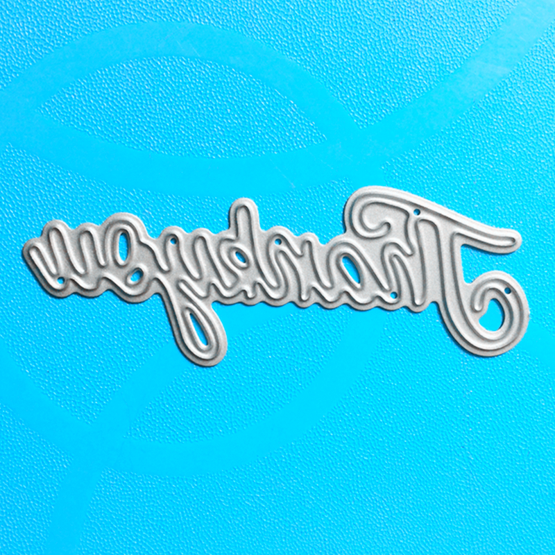 YINISE 191 Thank You Metal Cutting Dies For Scrapbooking Stencils DIY Album Cards Decoration Embossing Folder Die Cuts Template in Cutting Dies from Home Garden