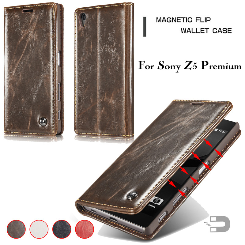 f4f8b887d CaseMe Leather Case for Sony Xperia Z5 Premium Z3 Z4 Flip Stand Card Slot Wallet  Cover for LG G4 G5 G6 V10 V20 Phone Cases Coque