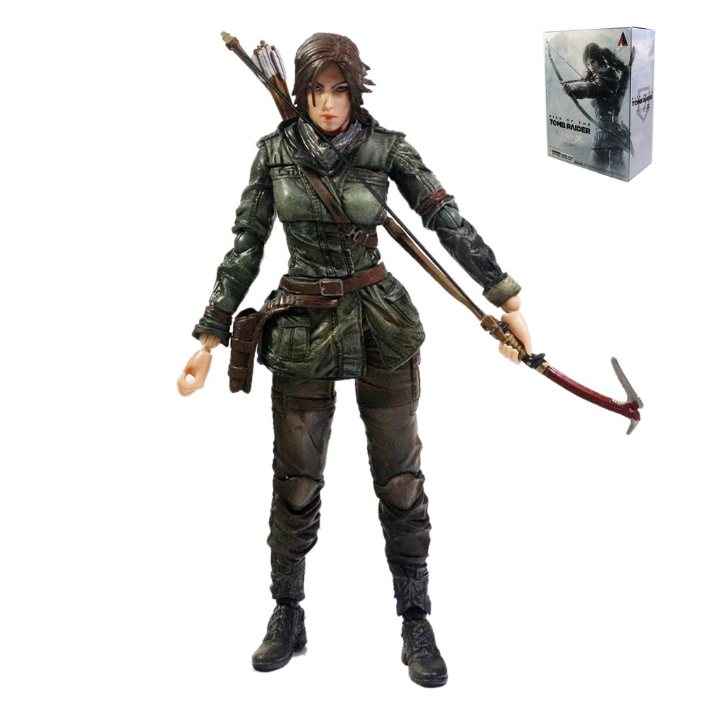 Square Enix Play Arts Kai Rise of the Tomb Raider Lara Croft figure 24cm/9.5 PAK001034 game 26 cm rise of the tomb raider lara croft variant painted figure variant lara croft pvc action figure collectible model toy