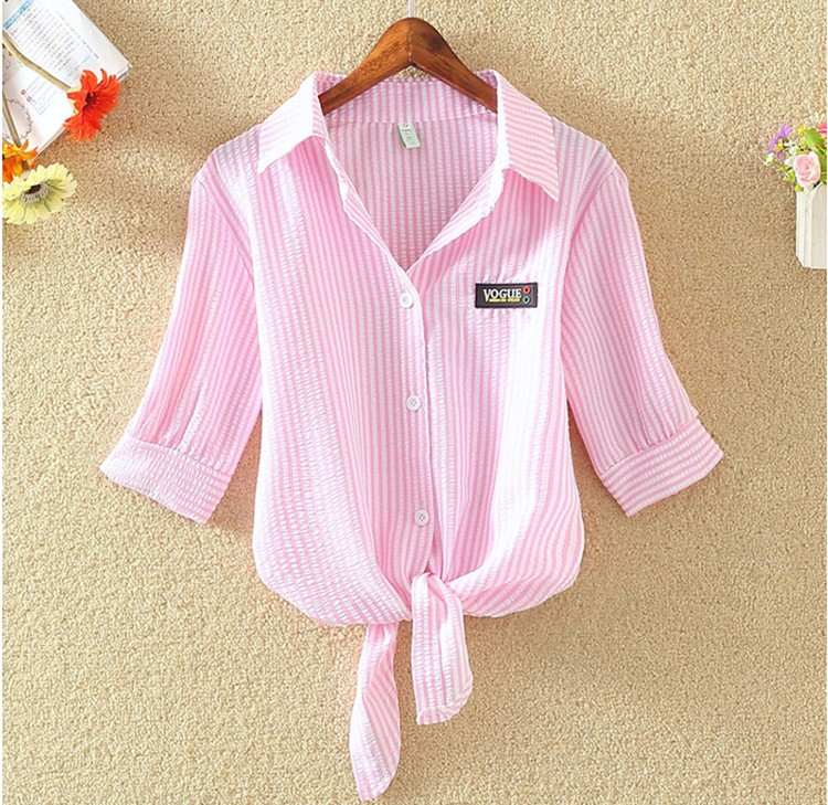 HTB1gJGuOVXXXXbOaXXXq6xXFXXXo - Women Summer Chiffon Blouse Plus Size Short Sleeve Casual Shirt