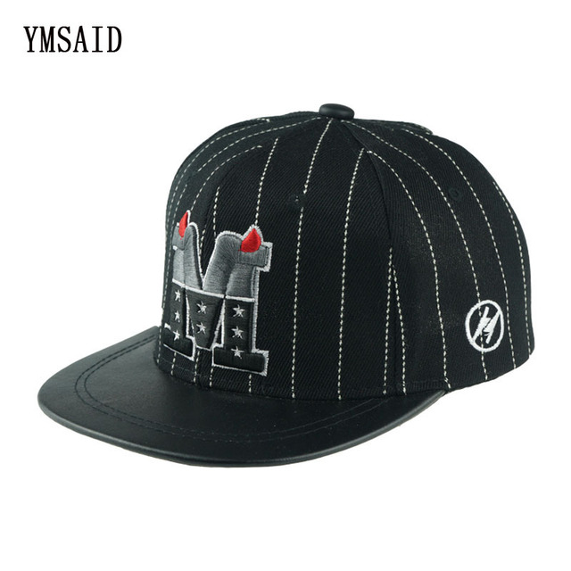 ca0e221a531 Ymsaid 2018 Trend Snapback Bone Child Embroidery Demon M Letter Baseball Cap  Boys And Girls Hip Hop Flat Hats