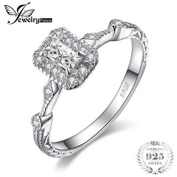 e83ae3189c7e JewelryPalace Vintage Milgrain 0.5ct corte esmeralda Cubic Zirconia anillo  de compromiso de la plata esterlina 925 para las mujeres nueva venta  caliente