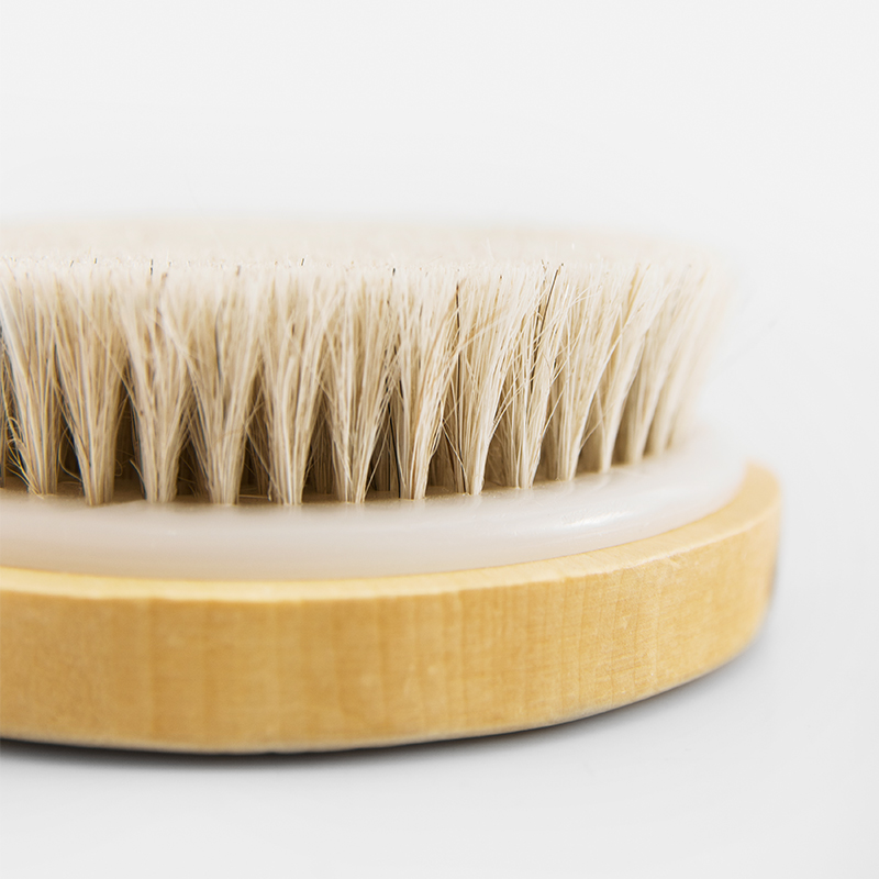 New Dry Skin Body Soft Natural Bristle the SPA the Brush Wooden Bath Shower Bristle Brush SPA Body Brush in Bath Brushes Sponges Scrubbers from Home Garden