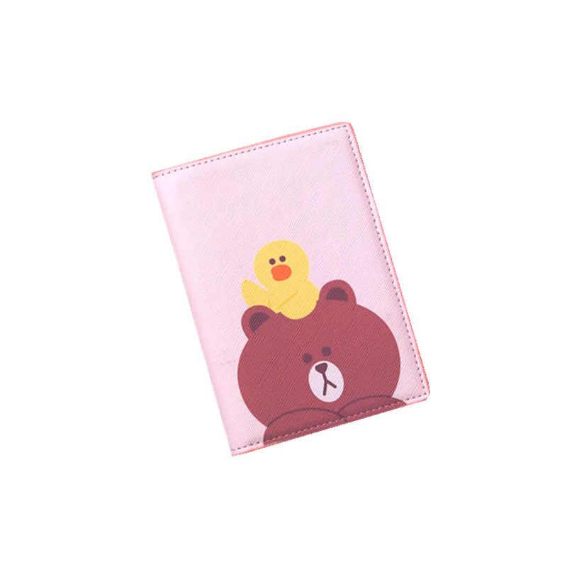 Заграничная дорожная мультяшная анимация паспорт открытка-коробка кошелек id Держатель карты кредитница чехол для паспорта