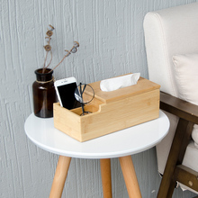 Quality Japanese style multifunctional Tissue box living room creative remote desktop storage