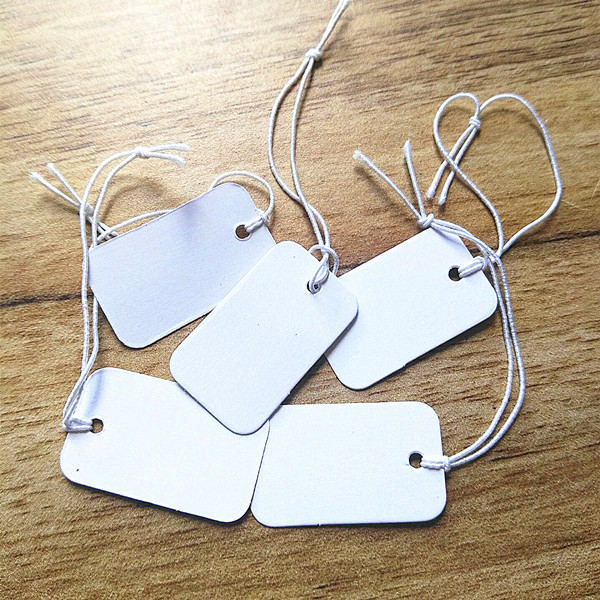 1000pcs Wholesale White Price Tags Paper Label Jewelry Packing And Display Items Size 25x15mm