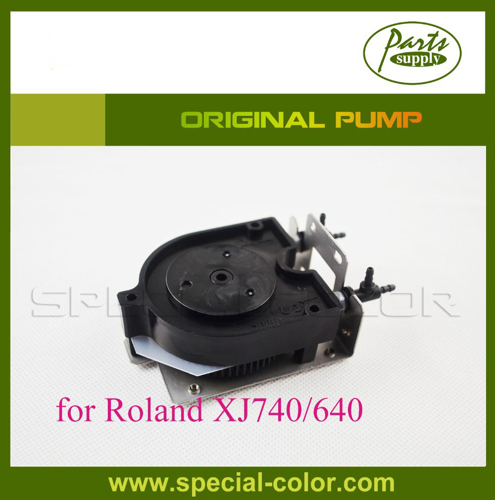Original Printer DX4 U Eco Solvent Ink pump for roland XJ740/640 Printer 300 400ml min 24v dc jyy brand big ink pump for solvent printer with free shipping cost by dhl