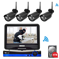 Wistino 1080P IP Camera Wireless Kits Outdoor CCTV Security Camera System WIFI Kit NVR Surveillance Video