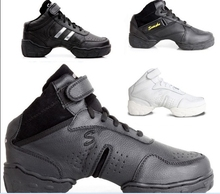 Women And Men Ballroom Salsa Jazz Dance Shoes Genuine Leather Top Quality With Breathable Dance Sneakers