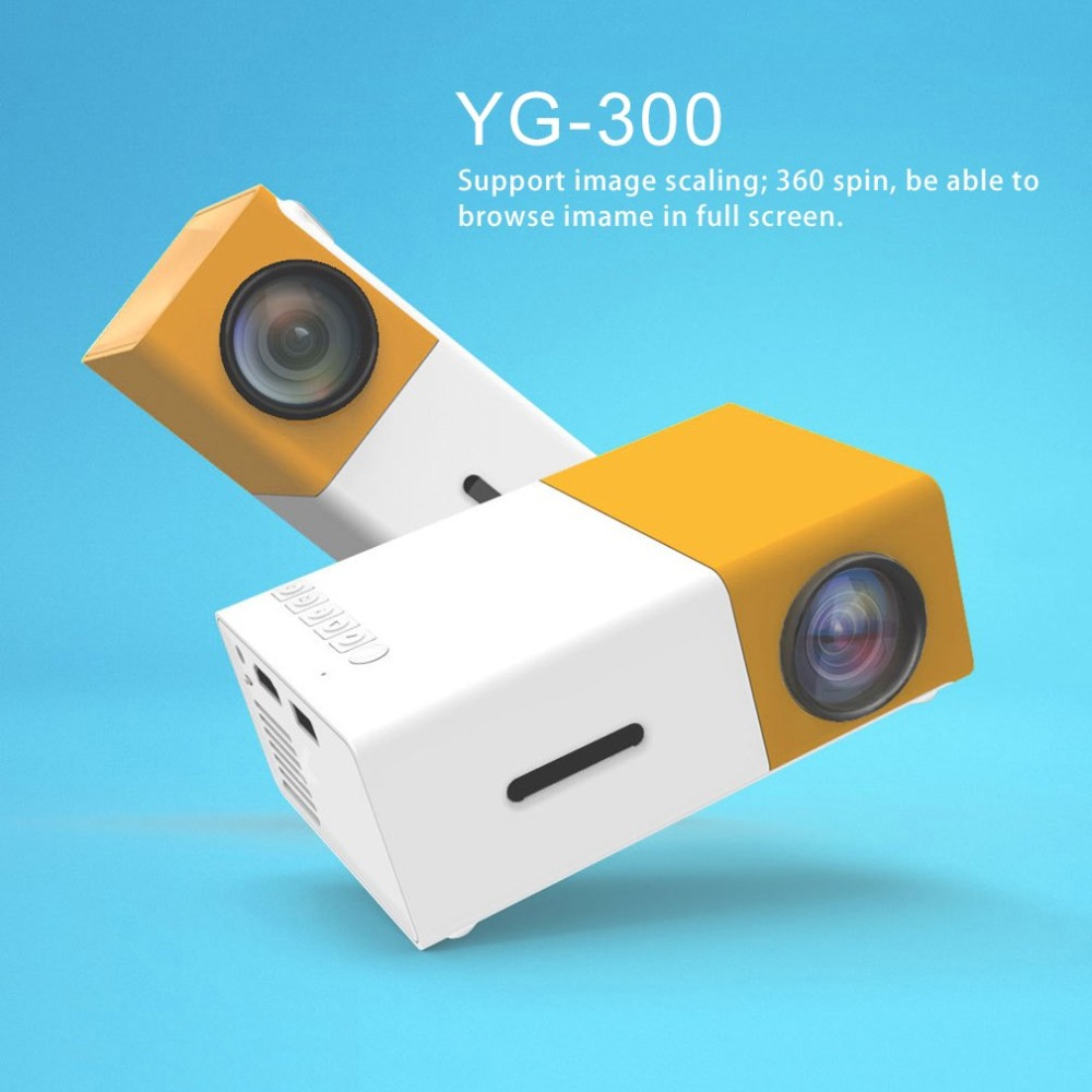 YG300 Professional Mini Projector Full HD1080P Home Theater LED Projector LCD Video Media Player Projector Yellow & White US siku внедорожник jeep wrangler с прицепом для перевозки лошадей