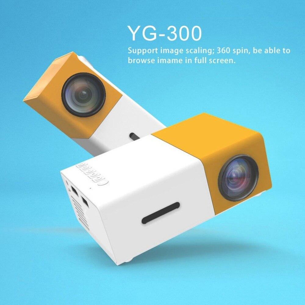 YG300 Professionnel Mini Projecteur Plein HD1080P Home Cinéma LED Projecteur LCD Vidéo Media Player Projecteur Jaune et Blanc NOUS