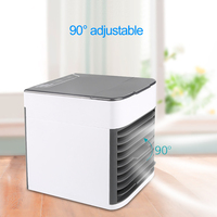 USB Mini Portable Air Conditioner Arctic Air Cooler Humidifier Purifier LED Light Personal Space Fan Air Cooling Fan