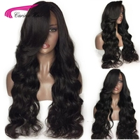 Carina Remy GLueless Preplucked Human Full Lace Wigs Loose Wave Lace Wigs With baby Hair For Black Women bleached knots