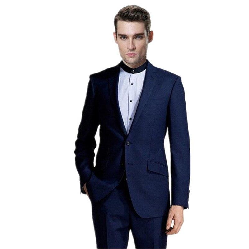 The most handsome man of leisure suit two-piece fashion lapel two grain of buttons suit elegant pure color leisure suit