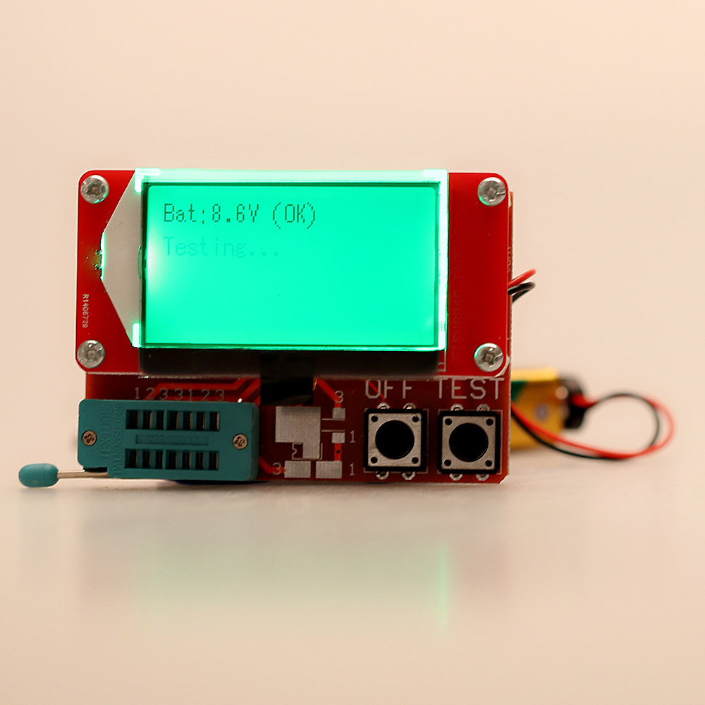 Multi Functional Lcd Transistor Tester For Diode Thyristor Resistors And Capacitors In A Circuit Capacitor Capacitance Esr Lcr Meter Two Button Operation Instrument Parts