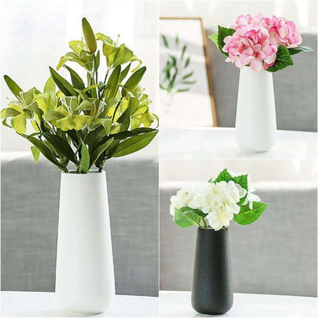 Scandinavian style ceramic flower vase simple pure black white color scandinavian style ceramic flower vase simple pure black white color flower vase artifact home decoration mightylinksfo