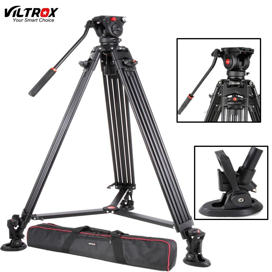 Viltrox VX 18M 74 Inch Professional Portable Aluminum Camcorder Camera Tripod Fluid Pan Head Horsehoe For