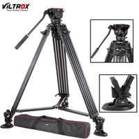 Viltrox VX 18M 74 Inch Professional Portable Aluminum Camcorder Camera Tripod+Fluid Pan Head Horsehoe For Video Photo Load 10KG