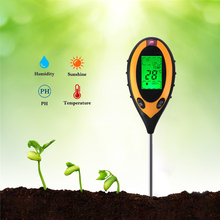 4 in 1 Digital Ph Meter Plant Soil Thermometer Hygrometer PH Meter Moisture Light Meter Indoor Outdoor Grow Plant Sunlight Soil