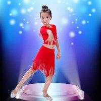 Children's Latin dance fringed skirt girls Latin dance skirt new dance practice clothes children's dance tassel skirt