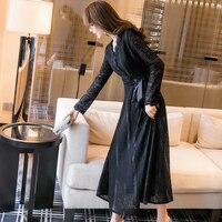 2018 새로운 여성의 봄 조수 블랙 긴 단락 속옷 스커트