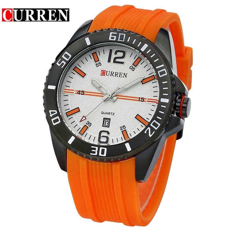Prix pour D'origine CURREN Top Brand New Fashion Quartz Hommes Montres de Sport Étanche montres Horloge relogio masculino 8178