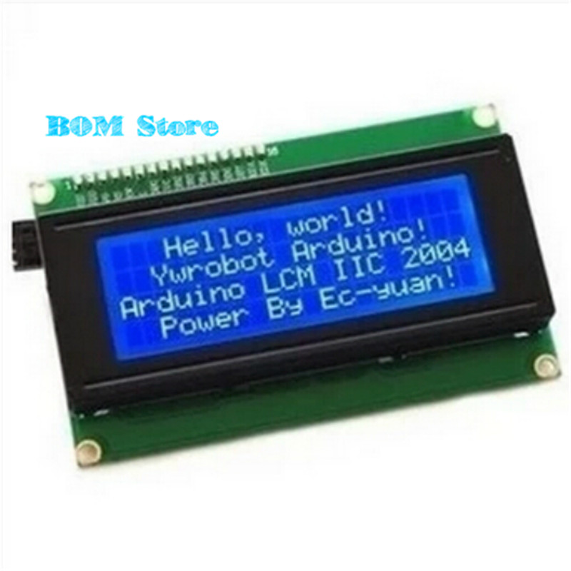 Smart ElectronSmart Electronics LCD Module Display Monitor LCD2004 2004 20*4 20X4 5V Character Blue Backlight Screen for arduino