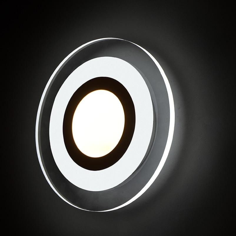 Naujos mados vadovaujamos sieninės lempos, akrilo liemenėlė, 10v - Vidinis apšvietimas - Nuotrauka 2