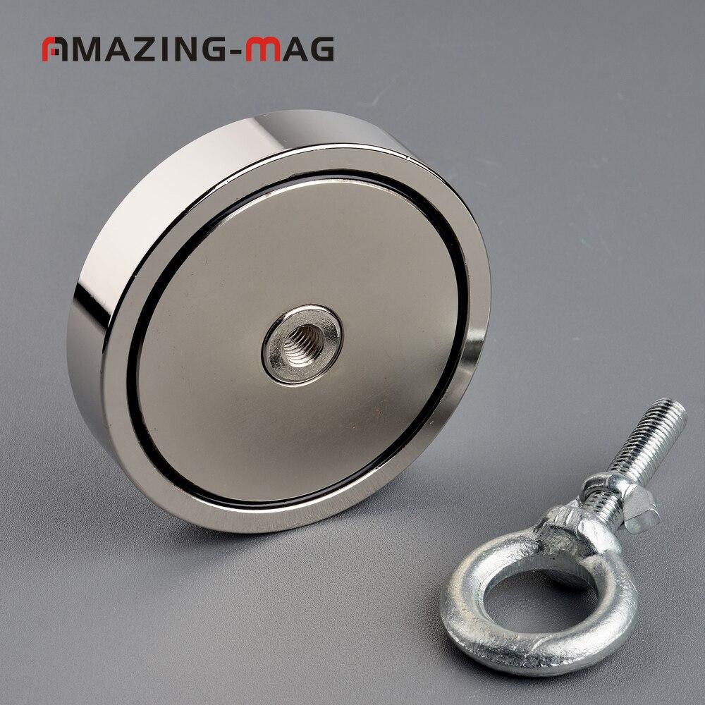 500 KG Big Forte Aimant De Pêche Sauvetage Néodyme Aimant D97 * 20mm Treasure Hunter Imanes Matériau Magnétique Puissant Base - 2