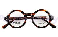 Agstum 42mm Small Round Handmade Vintage Retro Optical Tortoise Prescription Eyeglasses Frame