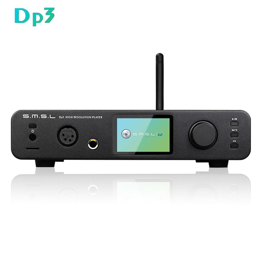 SMSL DP3 bureau équilibré DAC Auido amplificateur ES9018Q2C USB DAC DSD lecteur numérique Hifi amplificateur Bluetooth Audio ampli-in Lecteur de musique numérique à poser from Electronique    1