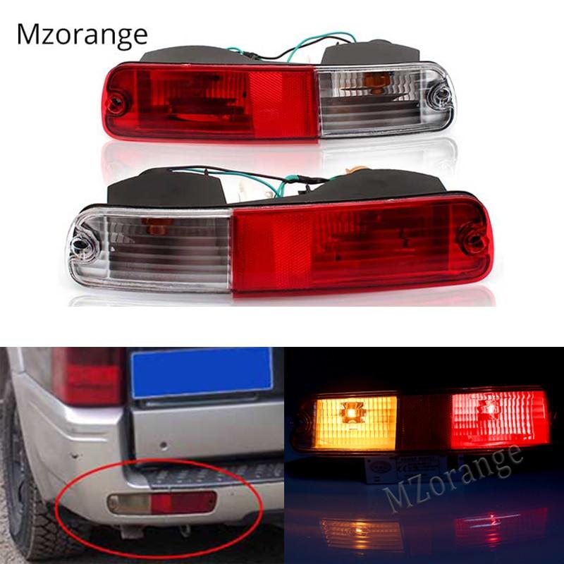 Rear Bumper Lamp Signal Tail Light Reflector For Mitsubishi 2003 2004 2005 2006 2007 Pajero  Montero V73 V75 V77 2003 2004-2006 Mitsubishi Pajero
