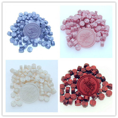 New 6 Colors Retro Sealing Wax Tablets Beads / Particles / Strips Of Bronzing Wax Seal Ancient Sealing Wax 30g,100-105pcs In BAG