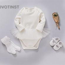 Dvotinst Newborn Baby Girls Clothes Bodysuits Princess Lace