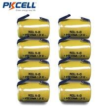 8X4/5 Sub C 1200Mah 1.2V 4/5 Sc Nicd Oplaadbare Ni Cd 4/5SC Batterij flat Top Met Tabs Pkcell