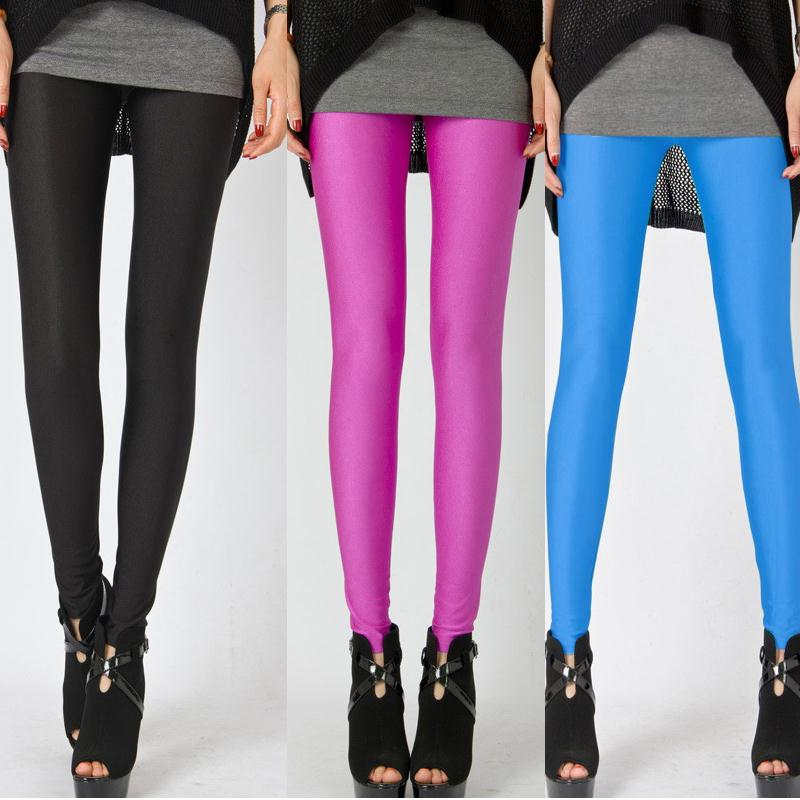 Women Candy Colors Pencil Leggings Autumn Stretchy Trousers Full Length Solid Color Pants 2017 Shealty Fashion Leggings 8 Colors