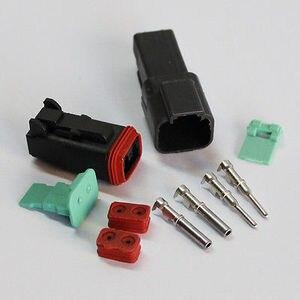 5sets-2 контактный водонепроницаемый электрический провод разъем DT04-2p и DT06-2S