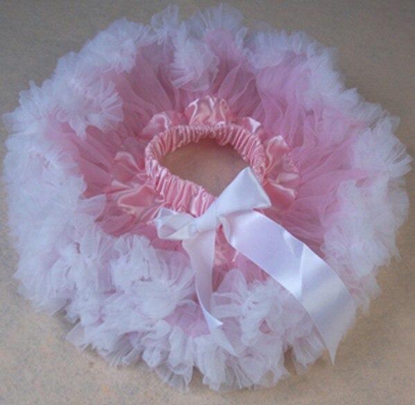 Детские юбки розового цвета на заказ; летняя юбка-пачка; Одежда для новорожденных; юбки-пачки для малышей - Цвет: Белый