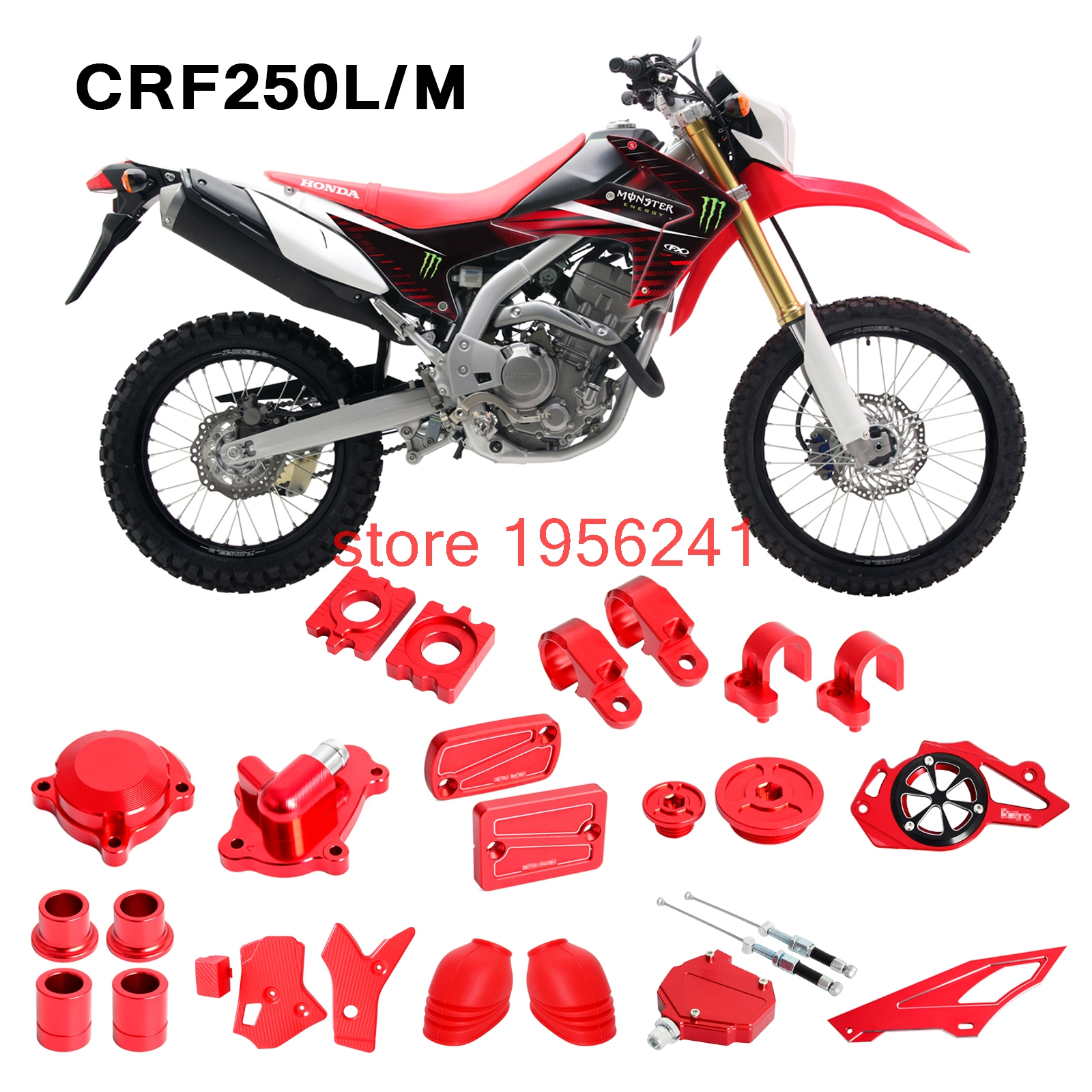 Red CNC Oil Filter Cover for Honda CRF250L//M//CRF250L Rally 2012-2017 CB300F 2015