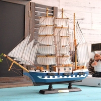 45cm Sailing Ship Model Mediterranean style Wooden Boat manual furnishing article arts and crafts