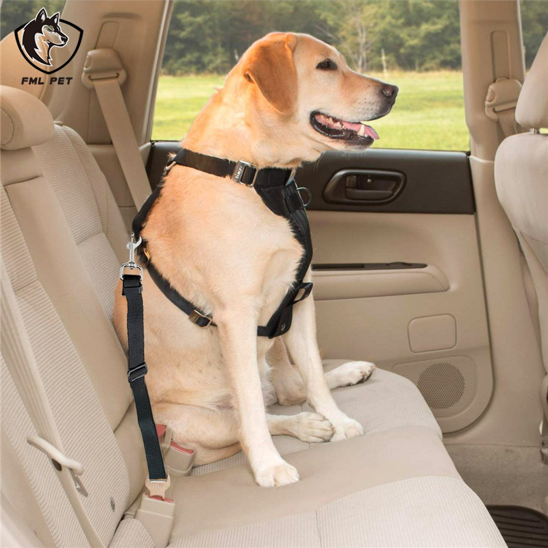 FML Pet Safety Belt Nylon Dog Car Sear Chihuahua Puppy Traction Rope Traveling Supplies Leash For Medium Large Dogs In Seat Belts From Home